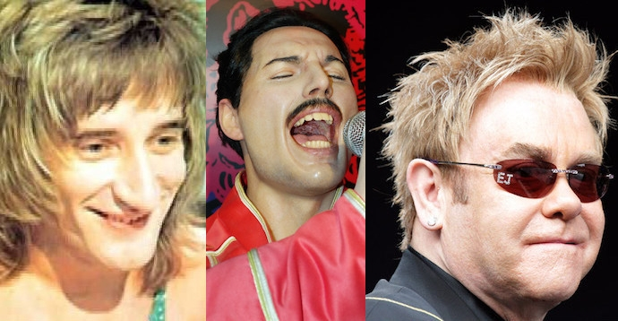 Rod Stewart, Freddie Mercury, and Elton John wanted to form a supergroup called Nose, Teeth & Hair