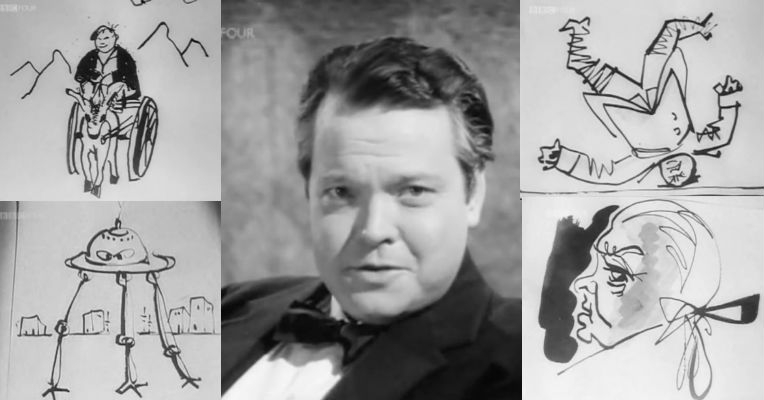 'Orson Welles' Sketch Book,' marvelous British TV series from 1955