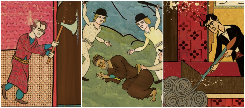 'The Shining,' A Clockwork Orange,' 'Scarface' & more become Ottoman miniature style works of art