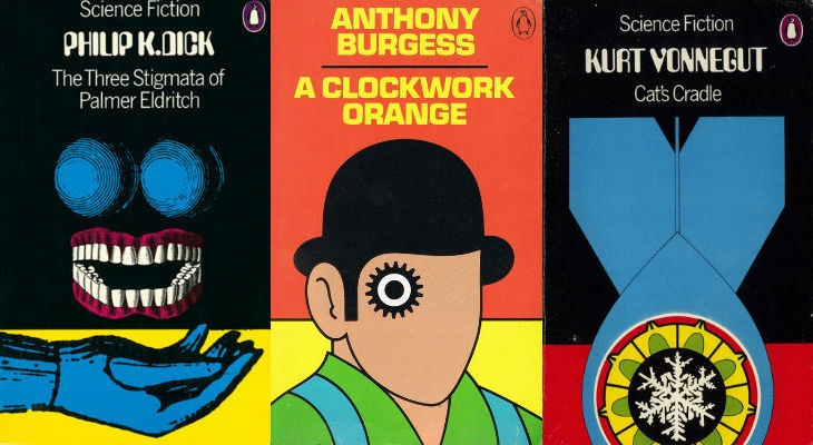 Classic Penguin sci-fi covers from the 1970s by David Pelham