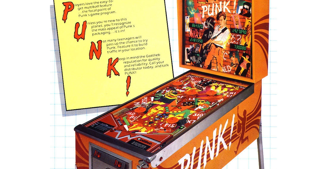 Amusing 'Punk!' pinball machine from the early 1980s hints at certain bands to avoid paying them