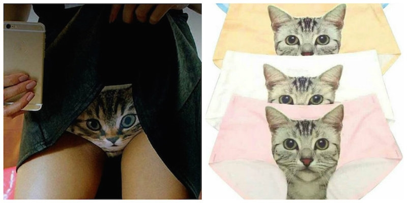 Cat got your tongue? Check out these cheeky 'pussy panties'