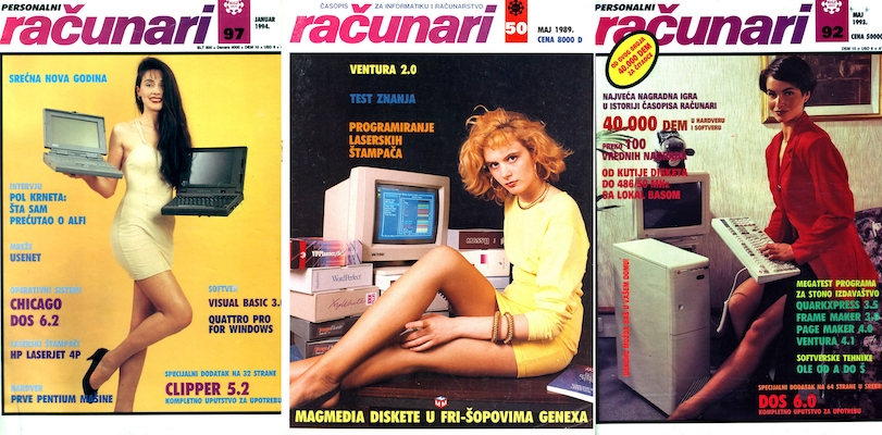 The sexy ladies of Yugoslavian computer magazines