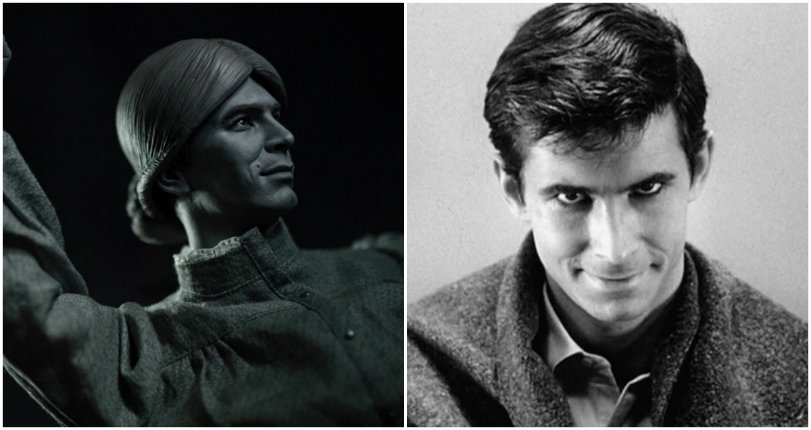 Terrifyingly lifelike sculptures of Norman Bates (and his 'mother') from 'Psycho'