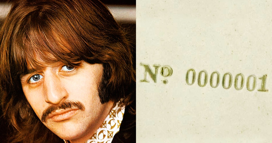 What do you get the collector who has everything? How about Ringo Starr's 'White Album' No.0000001?