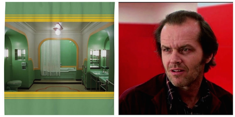 The bathroom from 'Room 237' in 'The Shining' becomes the creepiest shower curtain of all time