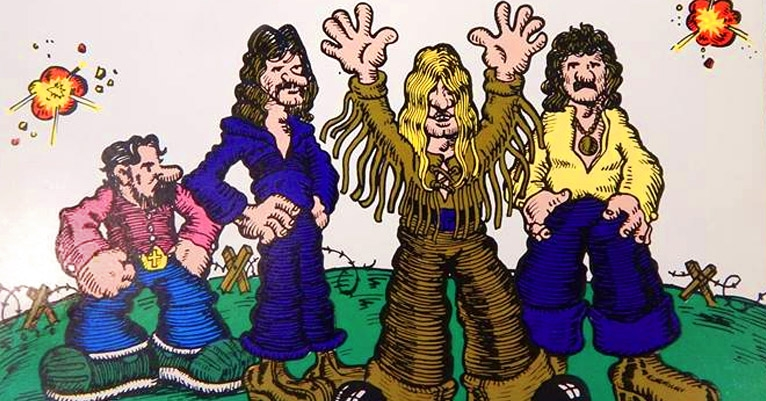 'Black Sabbath—The Ten Year War': Amazing promo artifact from 1978, with R. Crumb style artwork