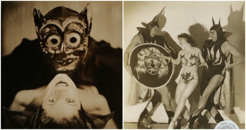 Satanic strippers: Vintage burlesque performers dance with the devil