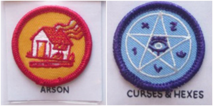 Scouting merit badges for cool shit like prank-calls, grave-robbing and arson!