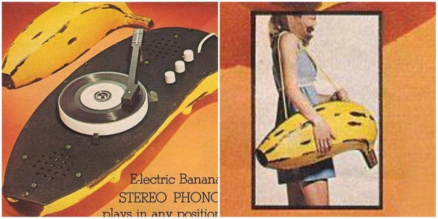 Vintage 1970s Warhol / Velvet Underground-inspired banana record player