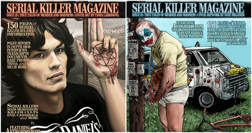 Night Stalkers: Disturbing illustrated covers from Serial Killer Magazine