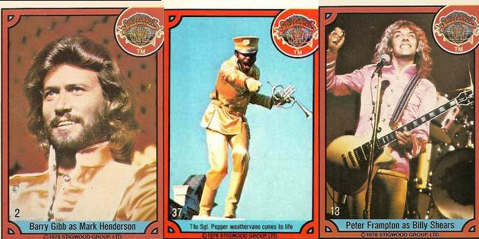 Gloriously pointless trading cards for the awful 'Sgt. Pepper's Lonely Hearts Club Band' movie