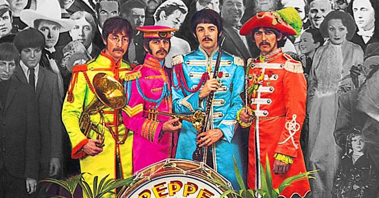 A Beatles fan is hunting down all the original photos from the 'Sgt. Pepper's' cover