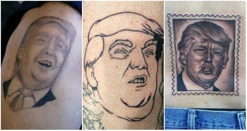 Shitty Donald Trump tattoos