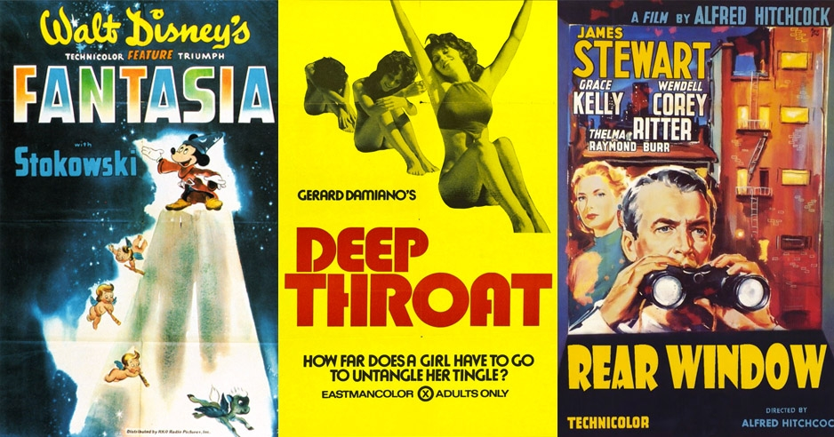 'Deep Throat,' 'Fantasia,' 'Rear Window' and more, each condensed into a single frame