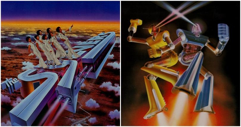 Far-out sci-fi album art for ELO, Giorgio Moroder, Earth, Wind & Fire and more by Shusei Nagaoka