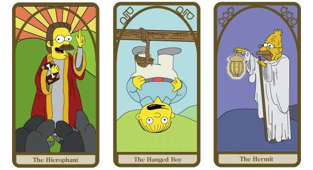 Simpsons tarot cards