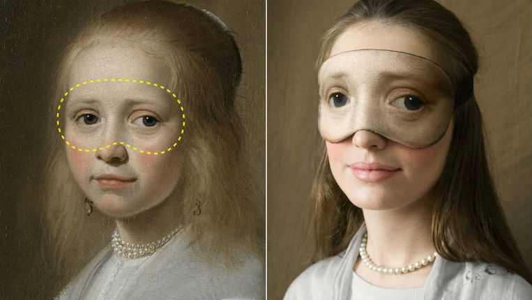 The eyes have it: Classical art-inspired sleep masks