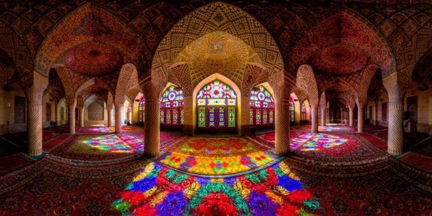 Stunning mosque ceilings highlight the intricate beauty of Islamic architecture
