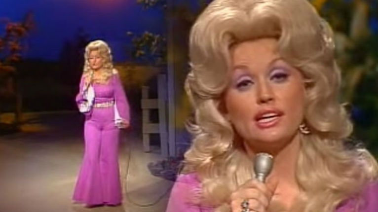 Dolly Parton performing a death metal version of 'Jolene'
