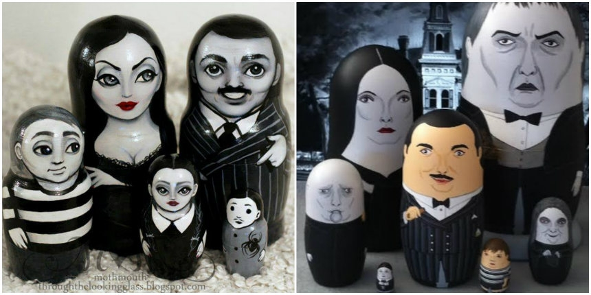 Addams Family nesting dolls are too damned adorable
