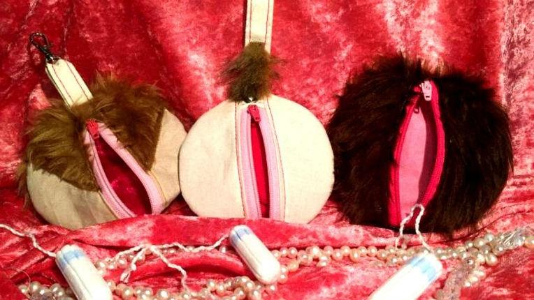 There are handmade vagina purses