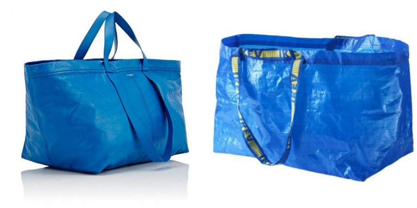 For when you have more dollars than sense: $2,145 designer purse resembles the blue IKEA bag
