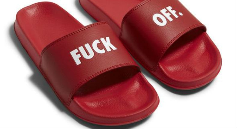 'Fuck Off' shoes are perfect for the summertime