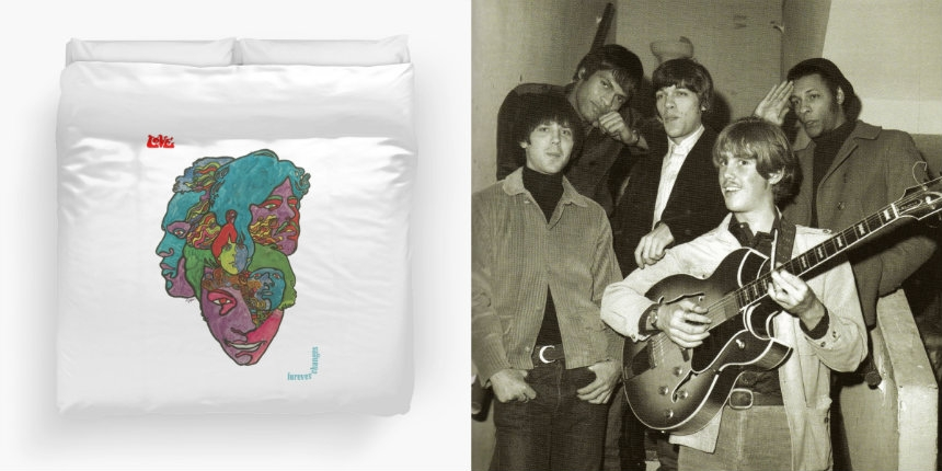 Love's iconic 'Forever Changes' album art as a duvet cover