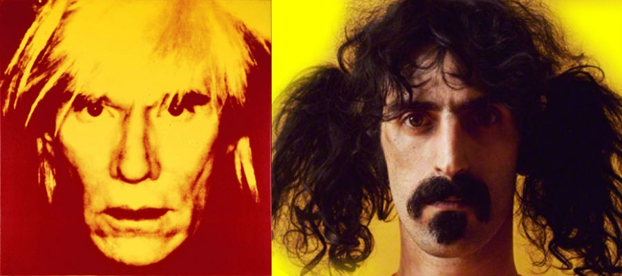 Andy Warhol interviews Frank Zappa (whom he hated) without uttering a word