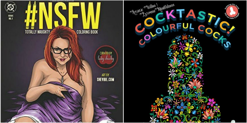 Totally NSFW adult coloring books