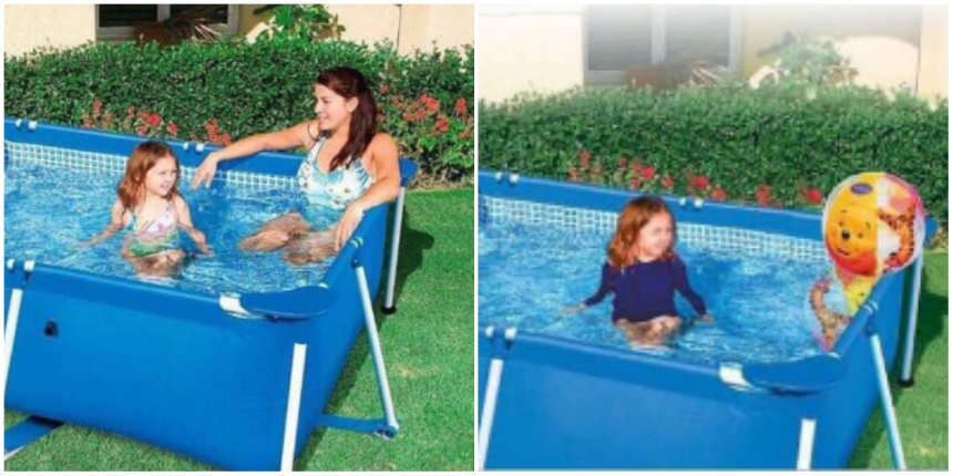 Saudi Arabia censors turn woman in swimming pool ad into a Winnie the Pooh beach ball!
