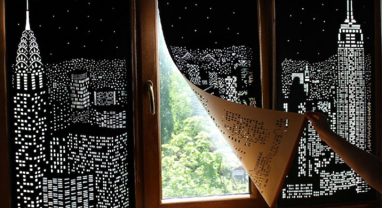 'Blackout' blinds turn windows into beautiful city skylines