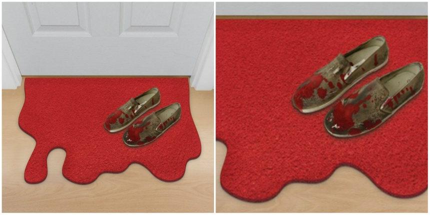 Blood spill doormat