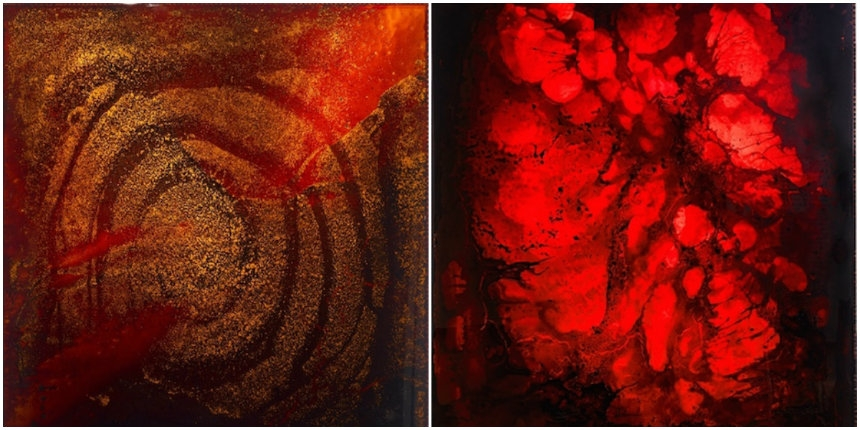 Deep Red: Brutally beautiful art created with blood