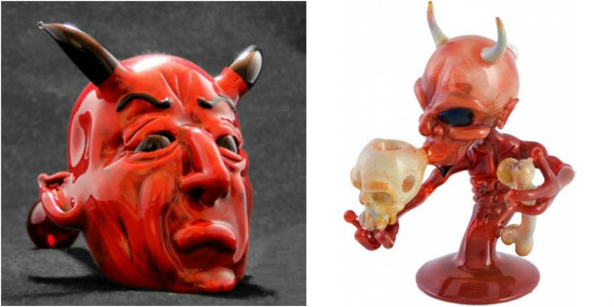 Hellfire: A collection of demonic pipes and bongs