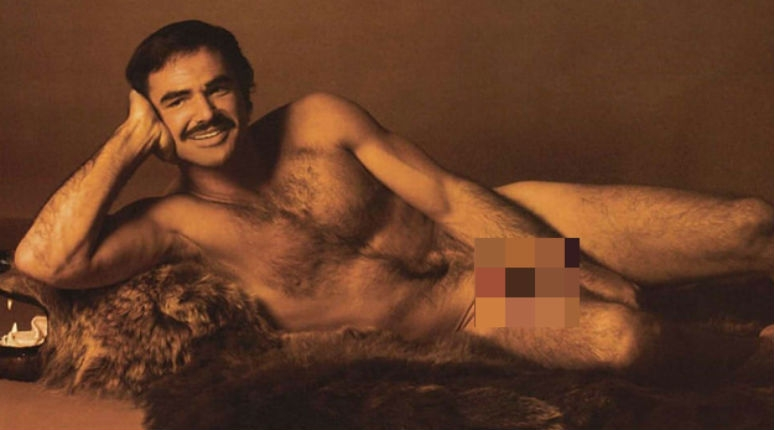 Behold a disturbing dollhouse-sized nude and hairy vintage Burt Reynolds figure
