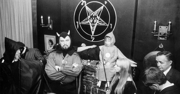 Rare pix of Anton LaVey performing Satanic rites, cavorting with Jayne Mansfield and Forry Ackerman