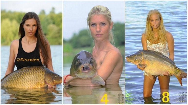 Yes, there is a 'sexy women holding carp' calendar and, of course, it's gotta be from Germany