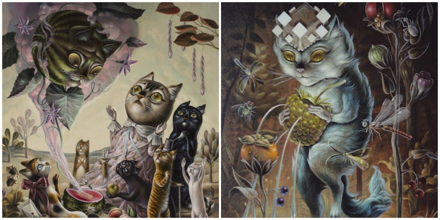 Mystical cats & smoking foxes: The fantasy animal world of Femke Hiemstra