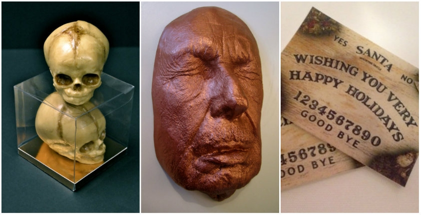 Disturbing edible fetal skulls, chocolate Vincent Price face, candy ouija boards & much, much more!