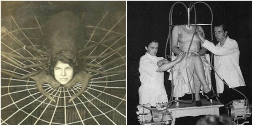 Battle of the female sideshow freaks: 'Spidora' vs the 'Headless Girl'