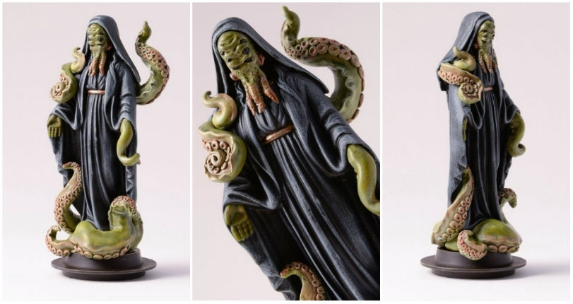 Cthulhu Priestess: 'Our Lady of Squid' figurine