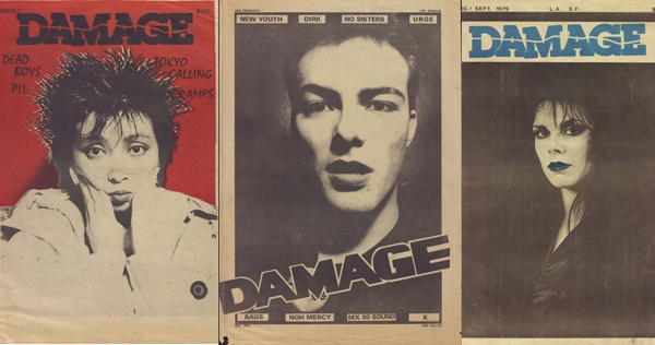The entire print run of classic SF punk magazine 'Damage' is now online!