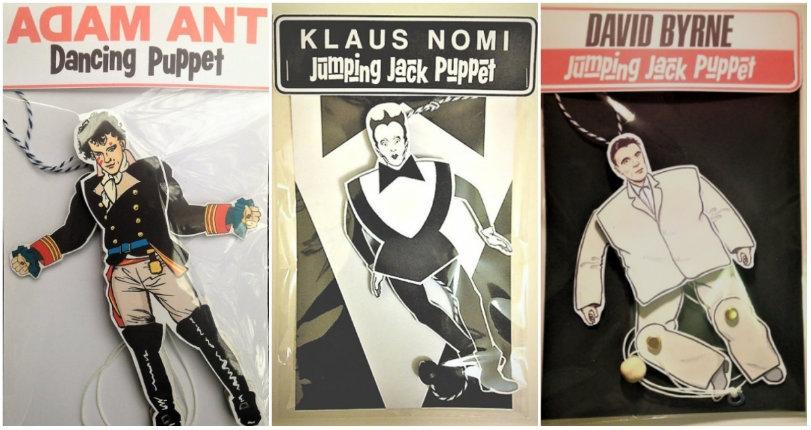 Jumping jack dancing 'puppets' of Klaus Nomi, David Byrne, Kathleen Hanna & many more