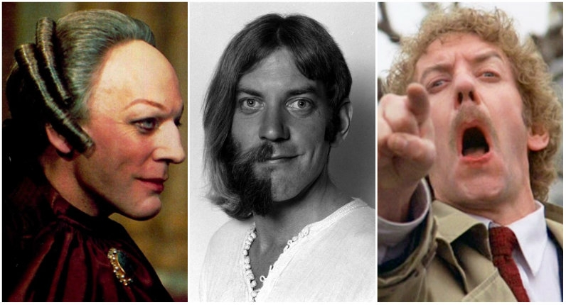 The many hairstyles of Donald Sutherland
