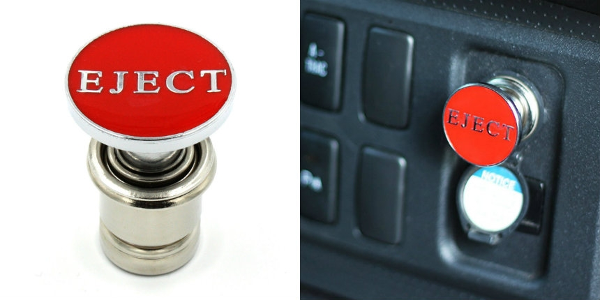 Someone made a red 'eject button' for your car's cigarette lighter