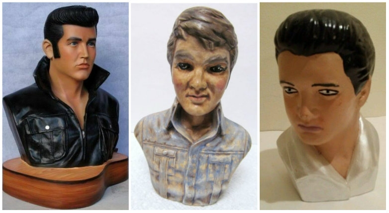 Elvis busts that look nothing like Elvis