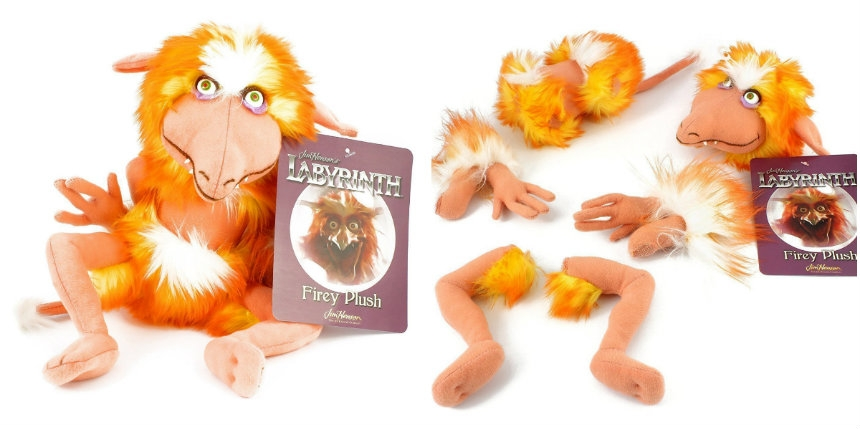 Firey plush figure (with removable body parts) from Jim Henson's 'Labyrinth'