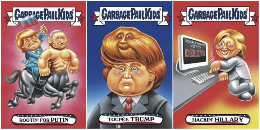 Garbage Pail Kids take on the 2016 Election